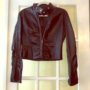 butsina Black Leather Jacket